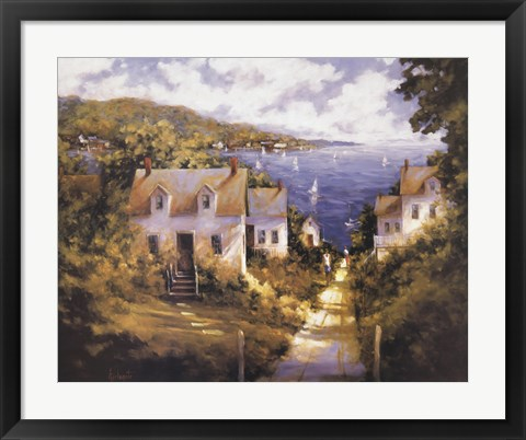 Framed Path to Harbor Print