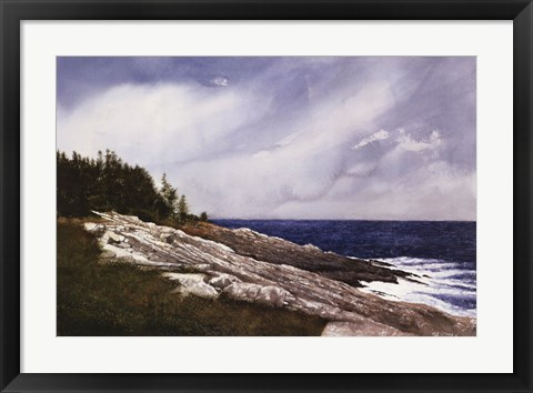 Framed Pemaquid Point Print