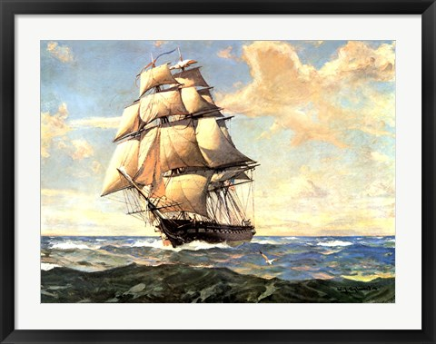 Framed USS Constitution Print