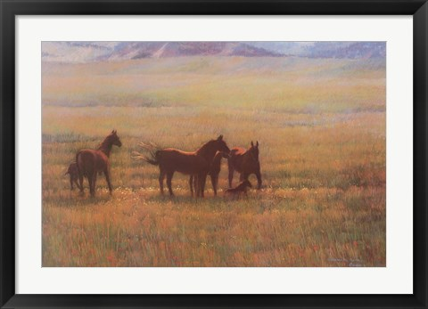 Framed Mares and Foals Print