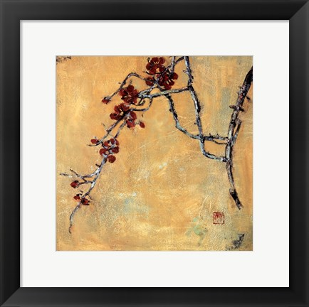 Framed Chinese Blossoms II Print