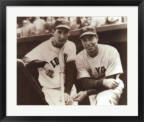 Framed Ted Williams & Joe DiMaggio, 1951 Print