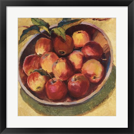 Framed Apple Bowl II Print