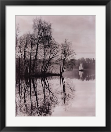 Framed Galves Lake, Trakai, Lithuania, 2001 Print