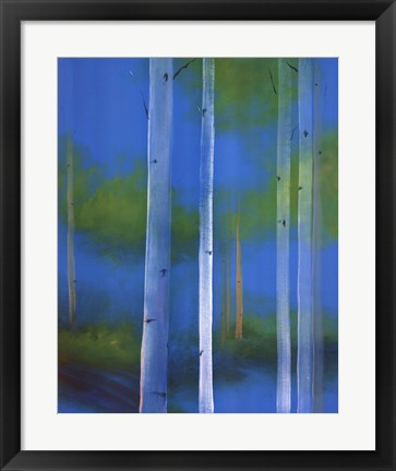 Framed Melodious Birch I Print