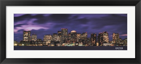 Framed Boston at Dusk Print