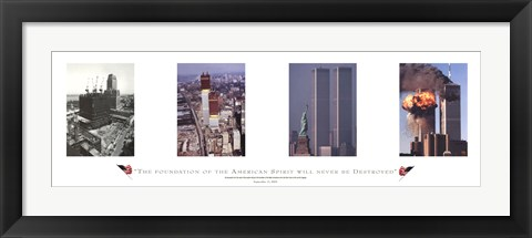 Framed World Trade Center, Remember Print