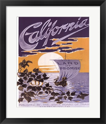Framed California ad Print
