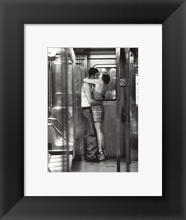 Framed Subway Kiss Print