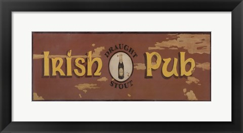 Framed Draught Stout Irish Pub Print