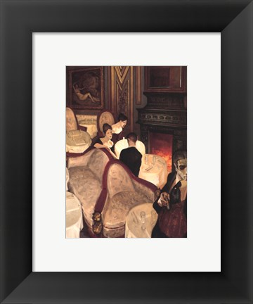 Framed Confessions over Champagne Print