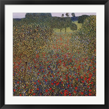 Framed Field of Poppies, c.1907 Print