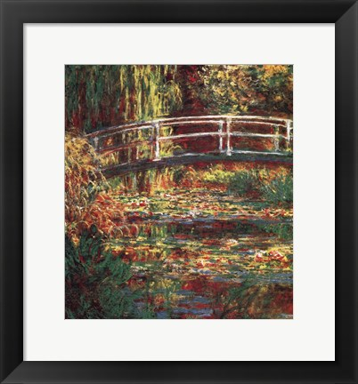 Framed Water Lilly Pond Print