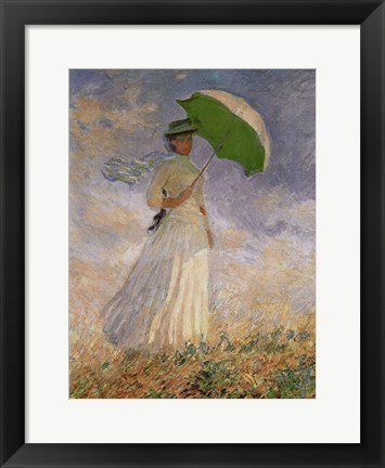 Framed Woman with Sunshade Print