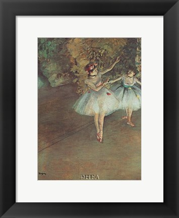Framed Two Dancers Print