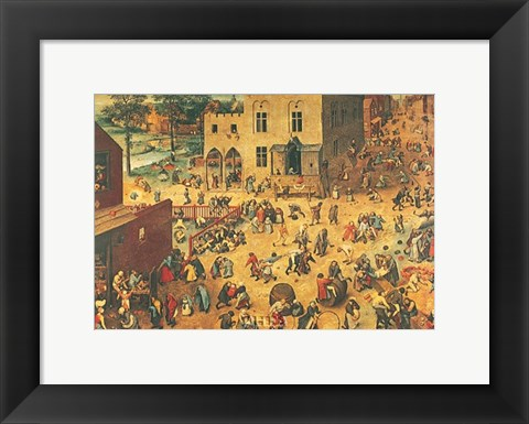 Framed Children's Games Print