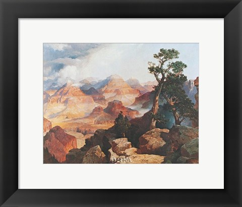 Framed Clouds in the Canyon Print
