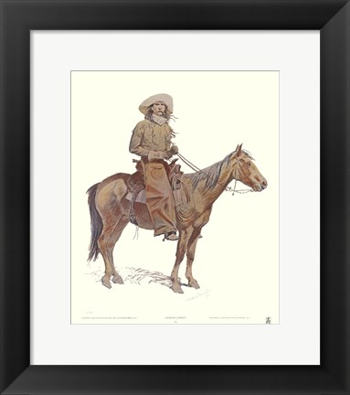 Framed Arizona Cowboy Print