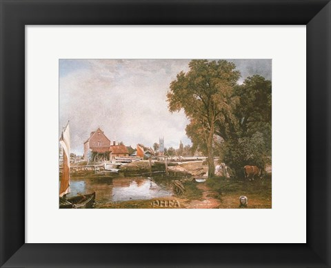 Framed Mill at Dedham Print