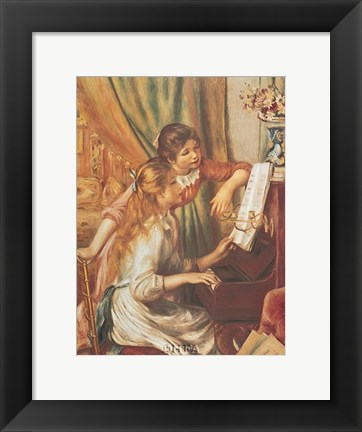 Framed Two Girls at the Piano Print