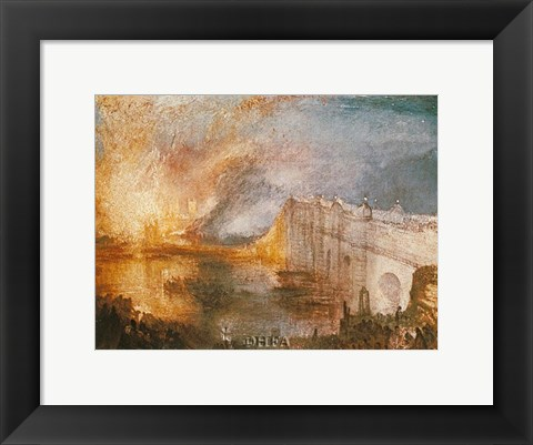 Framed Burning of the Houses of Parliament Print