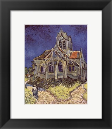 Framed Church at Auvers, c.1890 Print