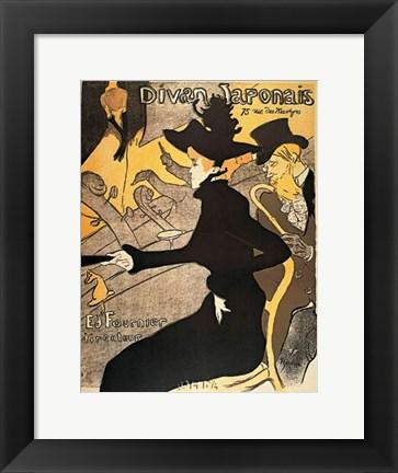 Divan japonais painting by henri de toulouse lautrec at for Divan japonais