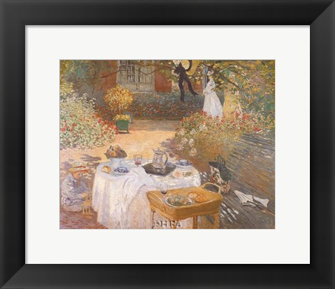 Framed Luncheon in the Garden Print