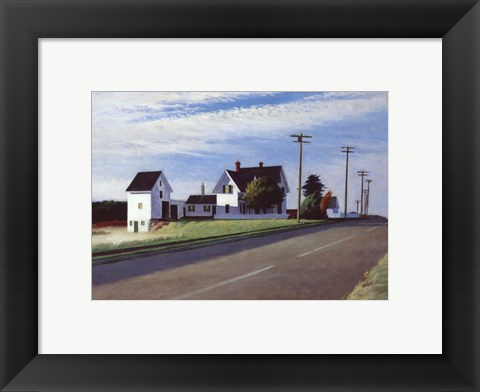 Framed Route 6, Eastham Print