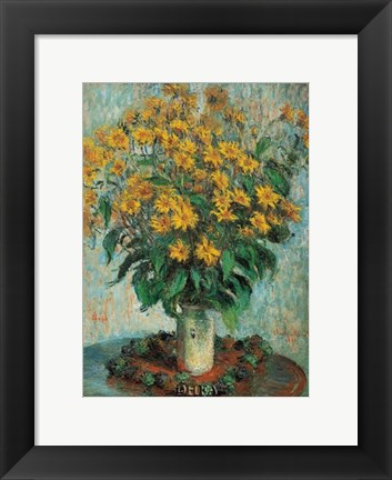 Framed Vase of Chrysanthemums Print