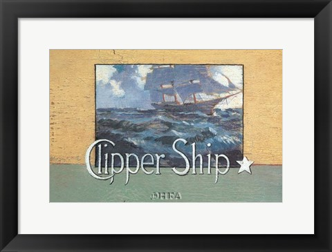 Framed Clipper Ship Print