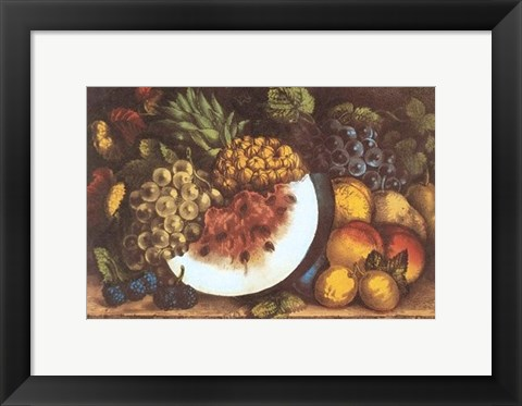 Framed Fruits Autumn Varieties Print