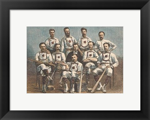 Framed Maple Leaf Base-Ball Club Print