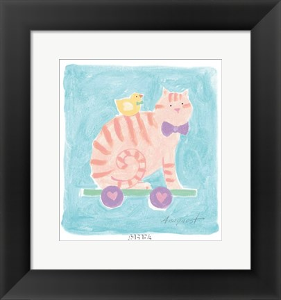 Framed Cat Toy Print