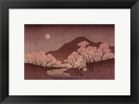 Framed Cherry Blossoms Print