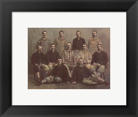 Framed Chicago Base-Ball Club Print