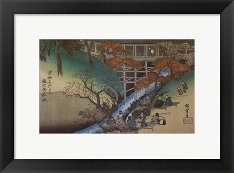 Framed Maple Leaves at Tsutenryo Print