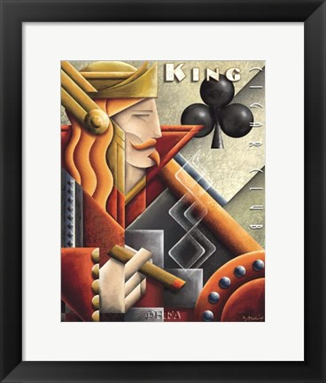 Framed King Cigar Club Print