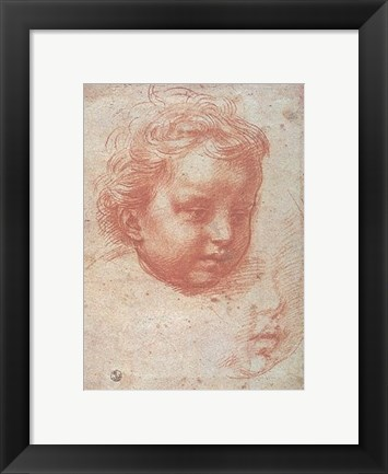 Framed Head of a Child Print