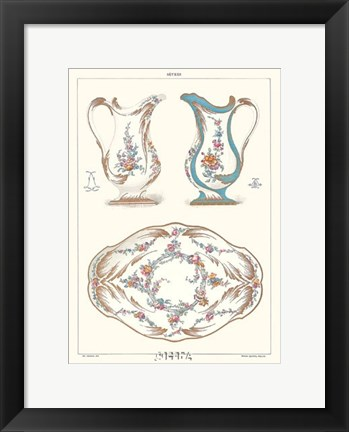 Framed Pitchers and Tray Print