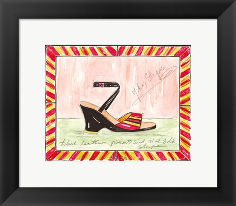 Framed Yikes Stripes Print