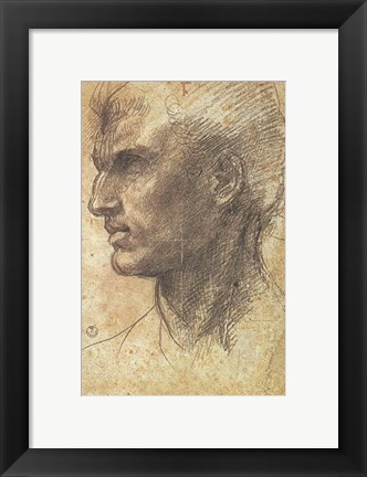 Framed Head of an Apostle Print