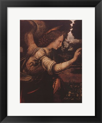 Framed Angel (Detail from The Annunciation) Print