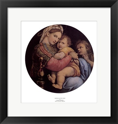 Framed Madonna of the Chair Print