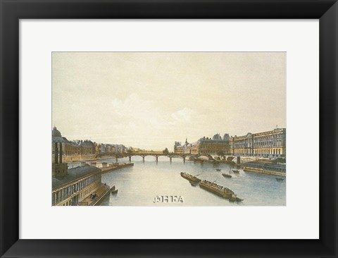 Framed View of the Louvre from the Seine Print