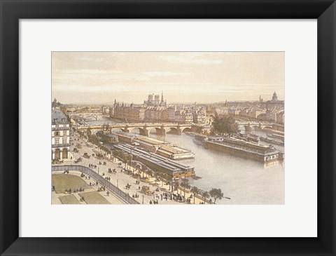 Framed View of the Seine from the Louvre Print