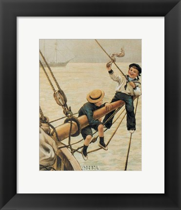 Framed Jolly Little Sailor Print