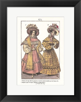 Framed Millinery Modes - dressed Print