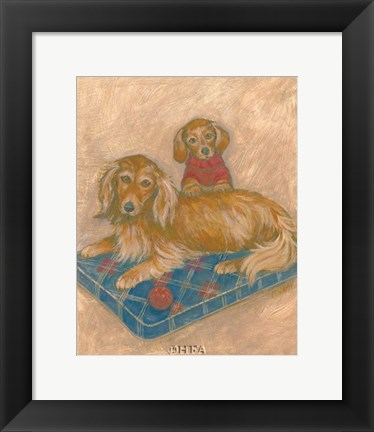 Framed Dachsunds Print