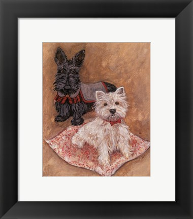 Framed Scotties Print